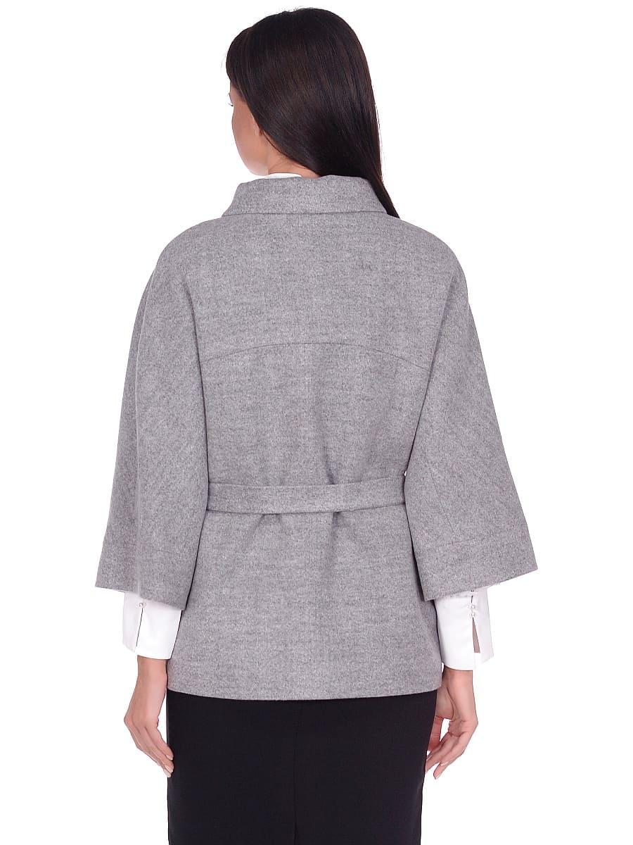 Женское демисезонное пальто hr-017A серое фото-3