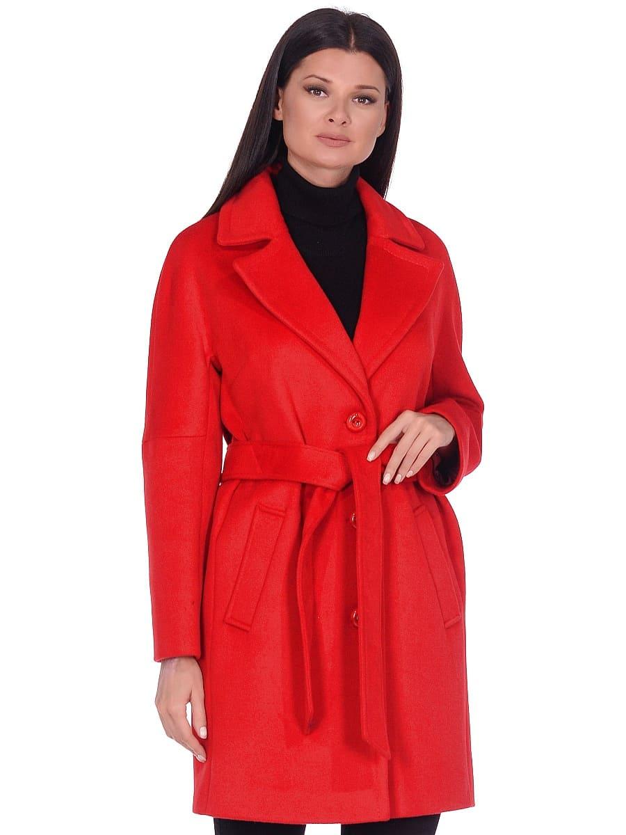 Женское демисезонное пальто hr-018 красное фото-2