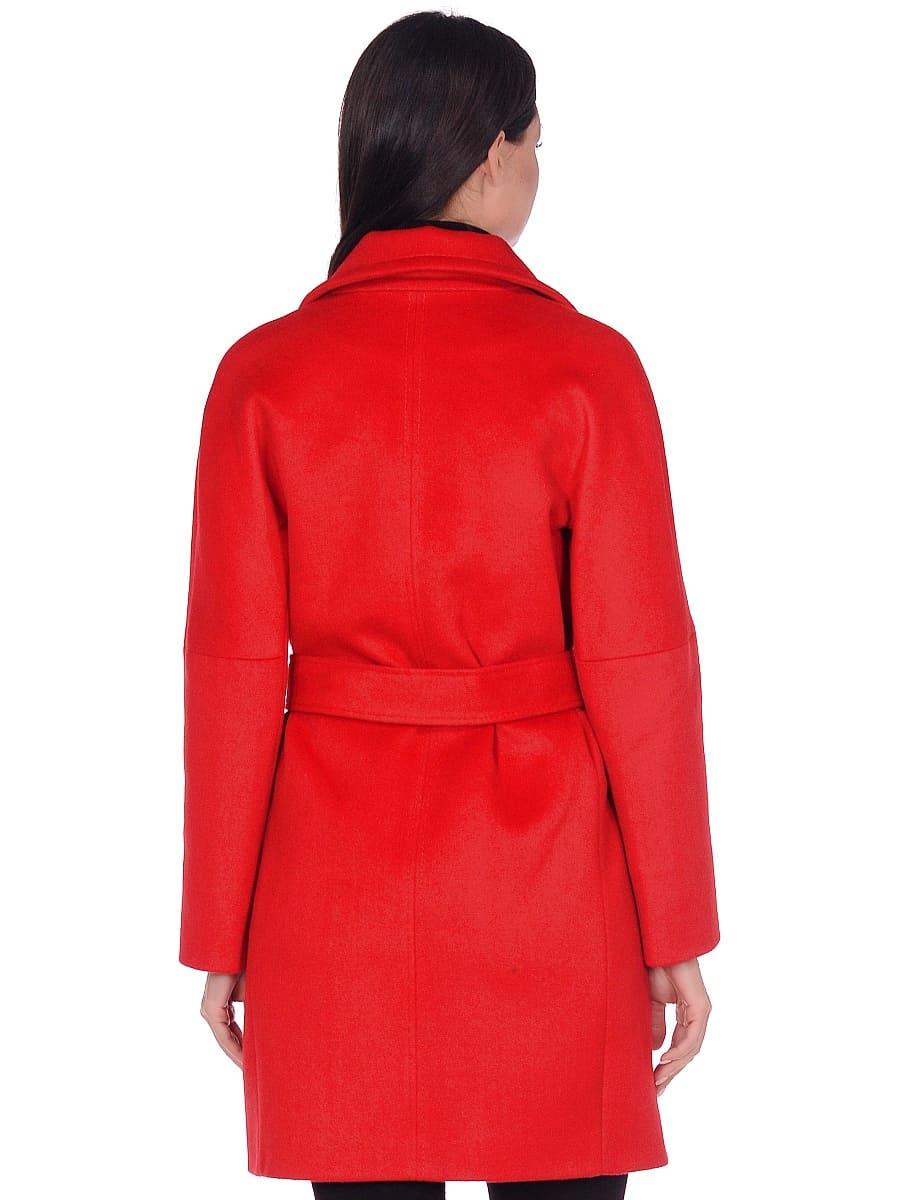 Женское демисезонное пальто hr-018 красное фото-3