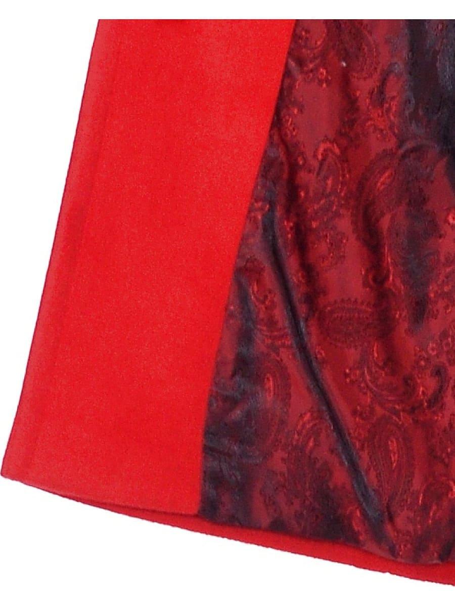 Женское демисезонное пальто hr-018 красное фото-4