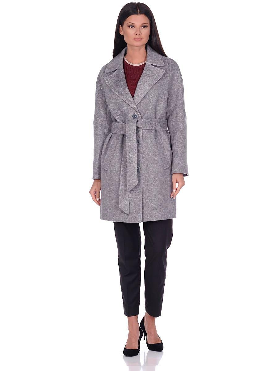 Женское демисезонное пальто hr-018 серое фото-1