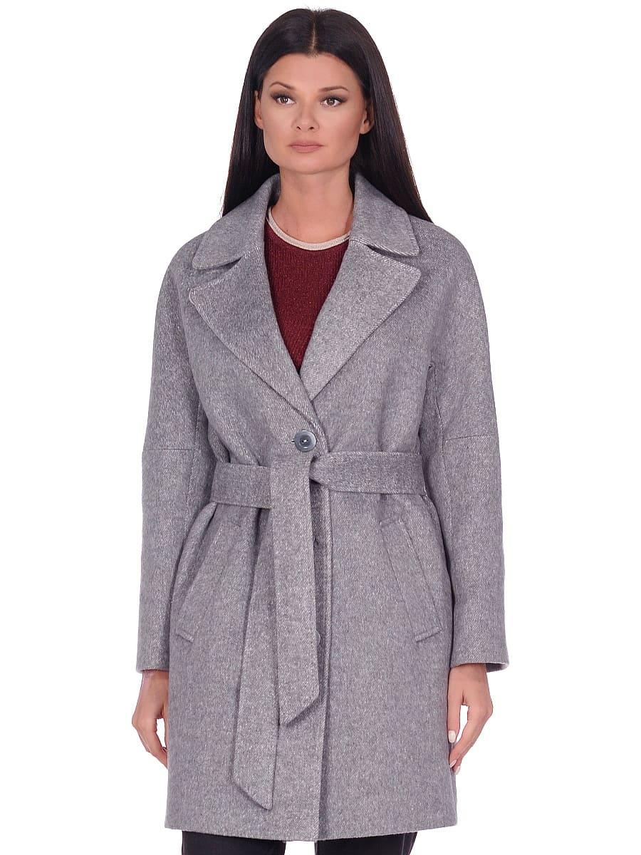 Женское демисезонное пальто hr-018 серое фото-2