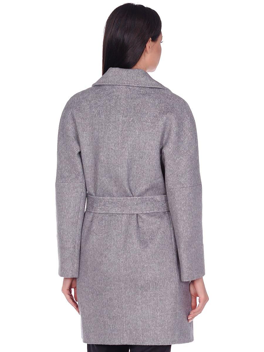Женское демисезонное пальто hr-018 серое фото-3