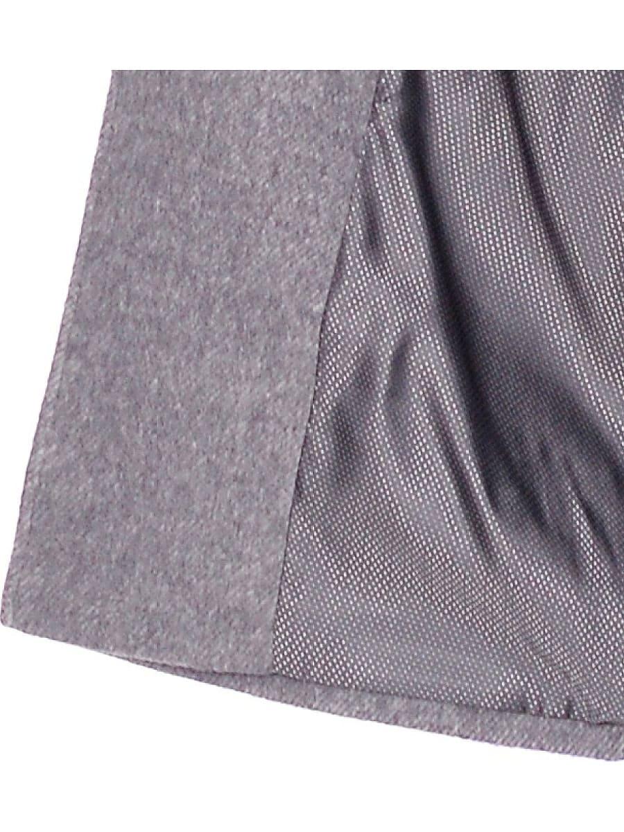 Женское демисезонное пальто hr-018 серое фото-4