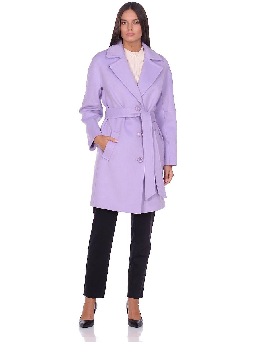 Женское демисезонное пальто hr-018 сиреневое фото-1