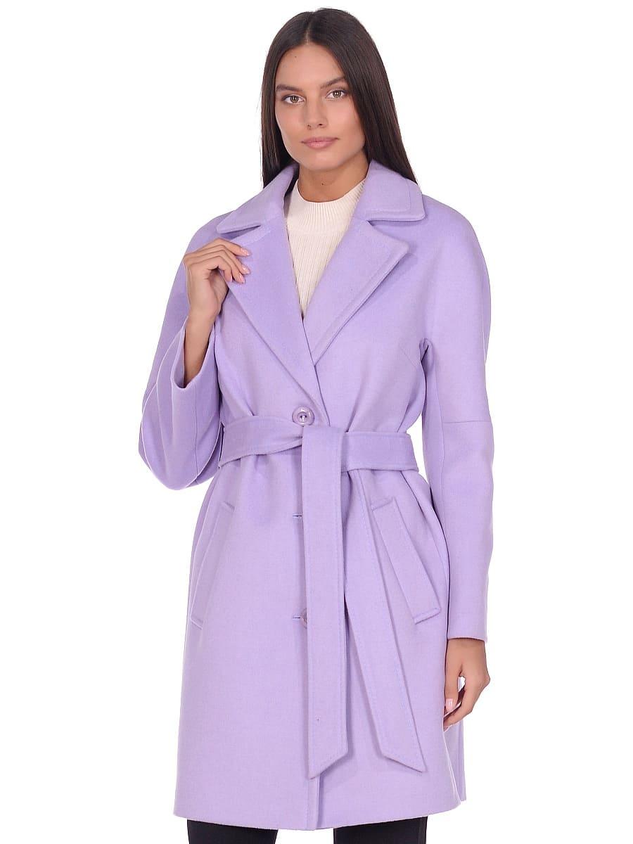 Женское демисезонное пальто hr-018 сиреневое фото-2