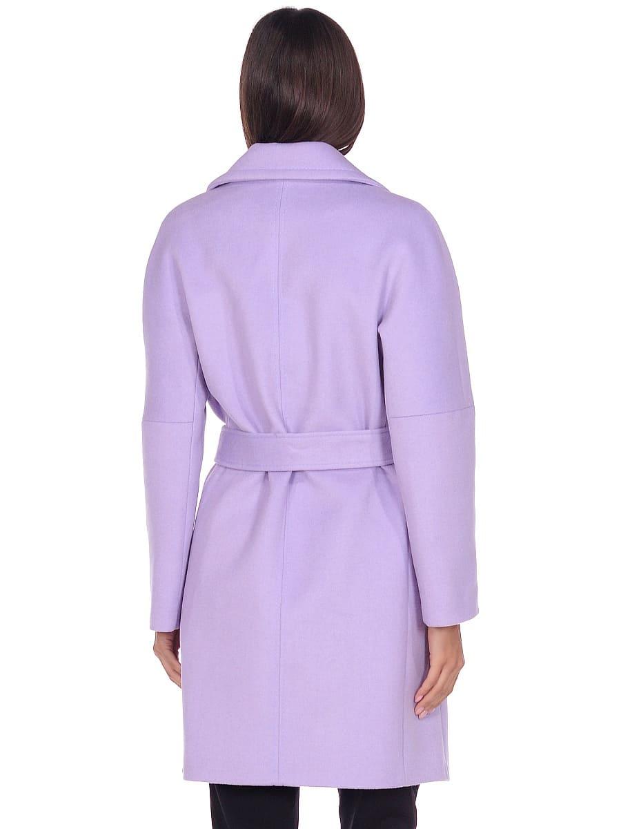Женское демисезонное пальто hr-018 сиреневое фото-3