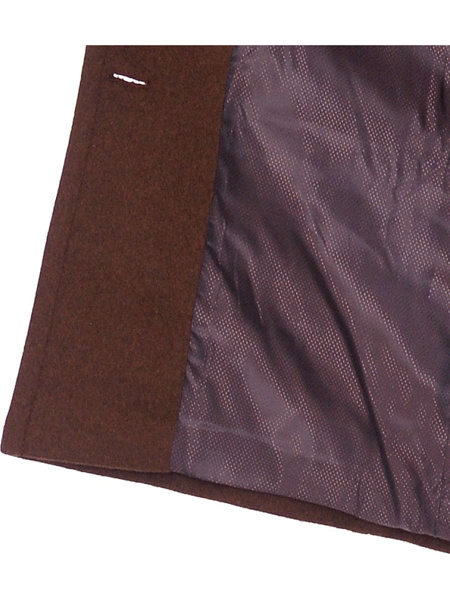 Женское демисезонное пальто hr-018 темно-коричневое фото-4