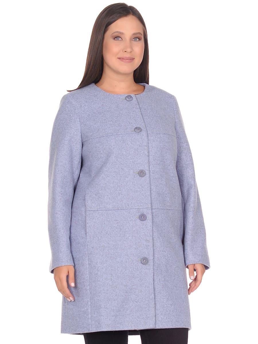 Женское демисезонное пальто hr-025 голубое фото-2