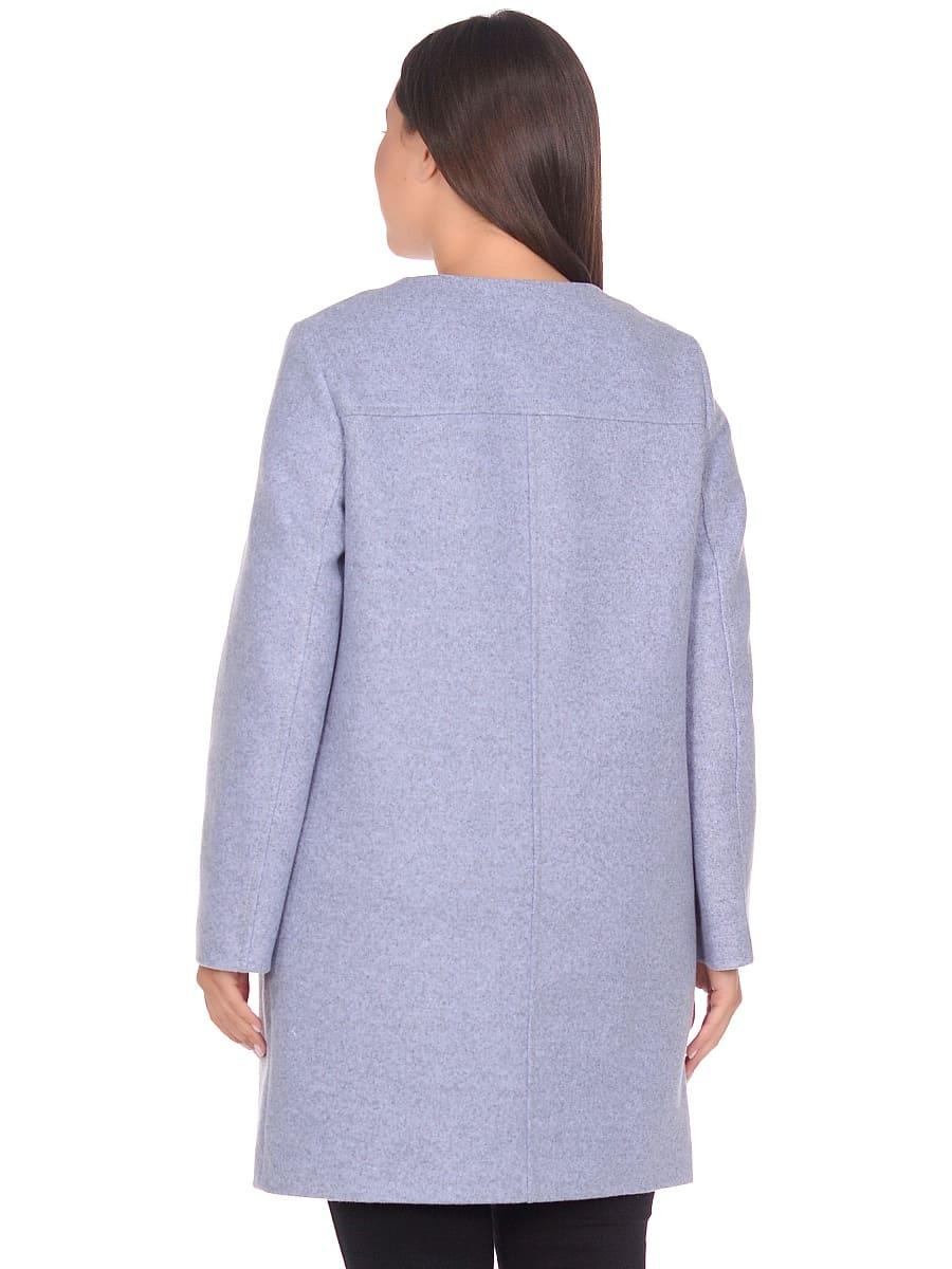 Женское демисезонное пальто hr-025 голубое фото-3