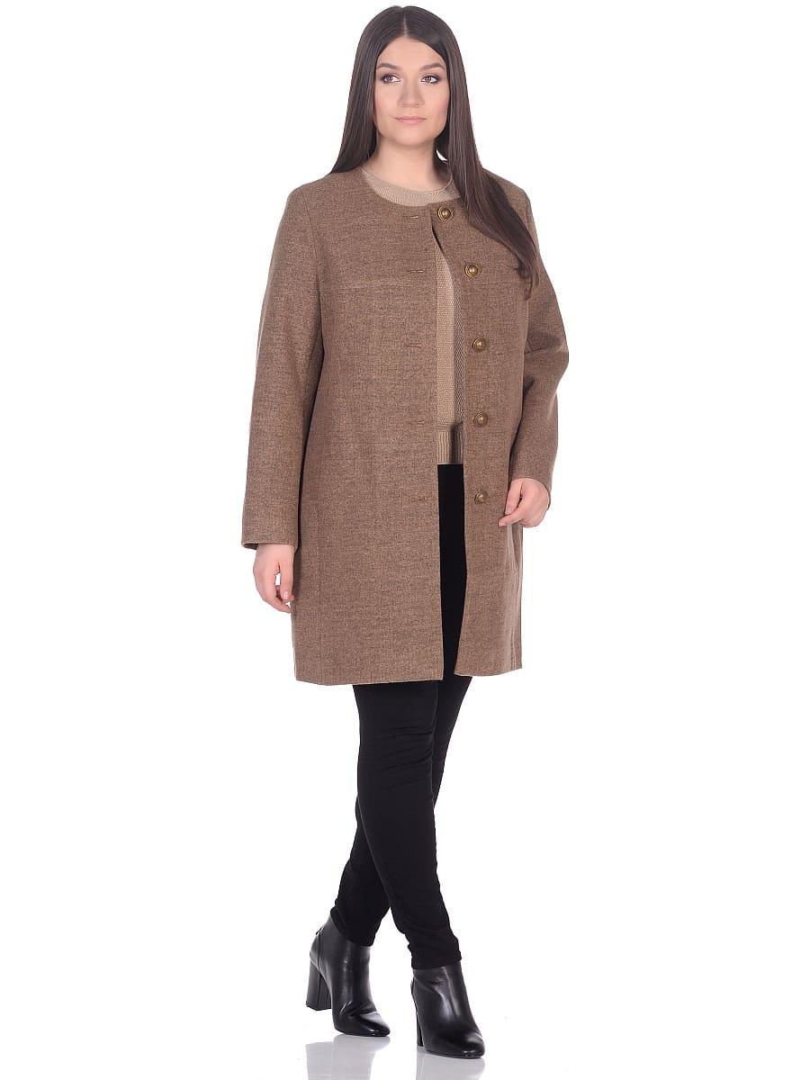 Женское демисезонное пальто hr-025 горчичное фото-1