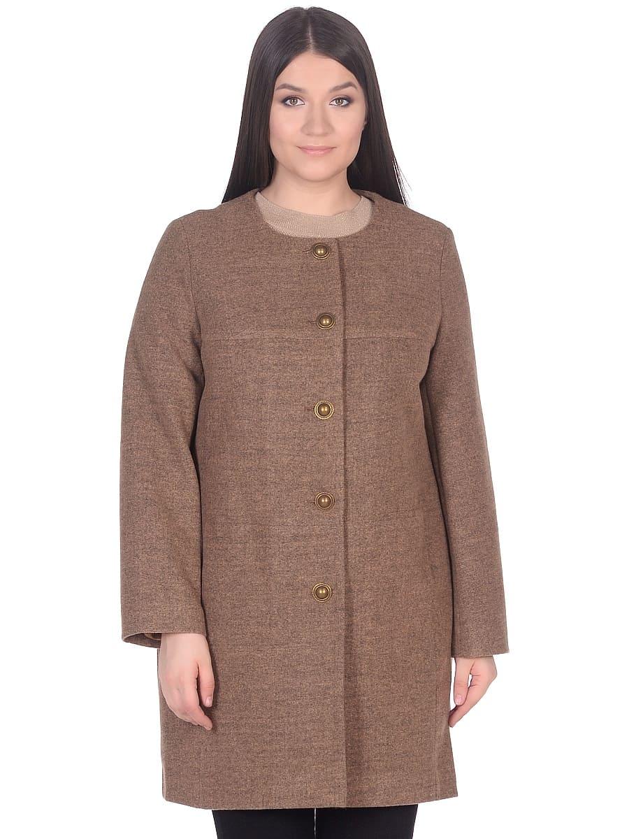 Женское демисезонное пальто hr-025 горчичное фото-2