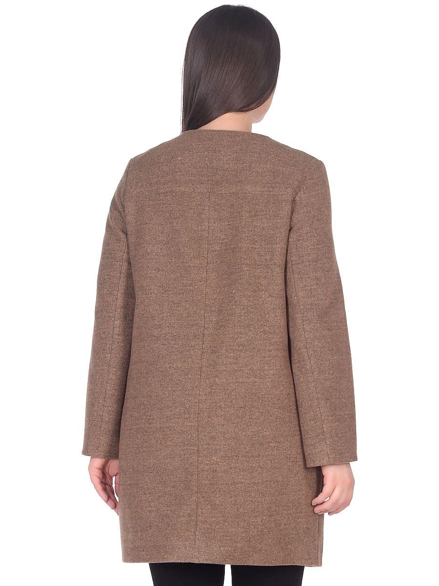Женское демисезонное пальто hr-025 горчичное фото-3