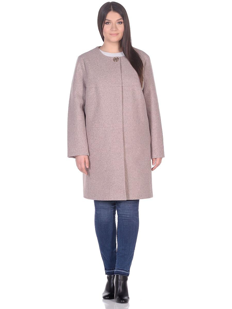 Женское демисезонное пальто hr-025 розовое фото-1