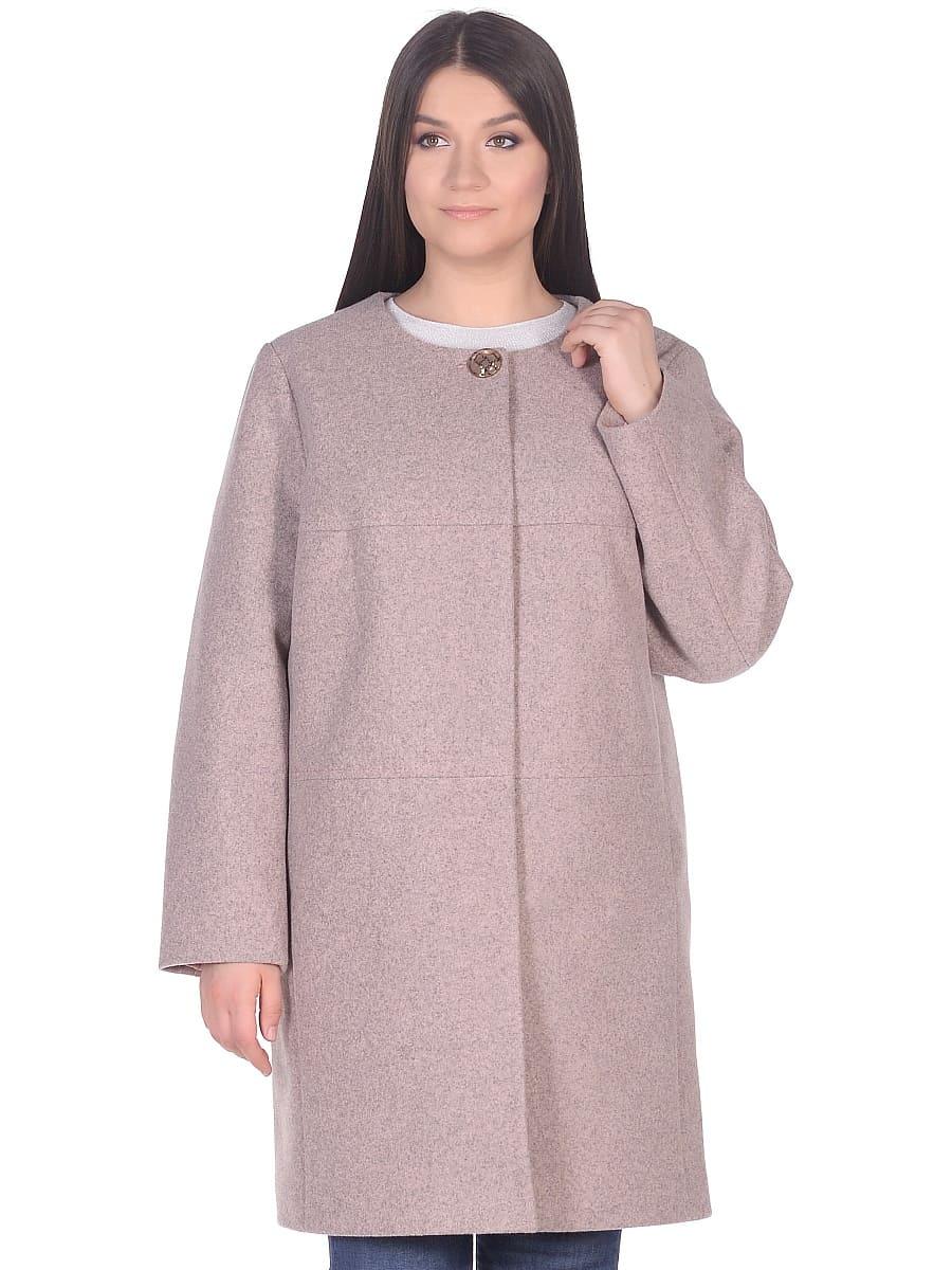 Женское демисезонное пальто hr-025 розовое фото-2