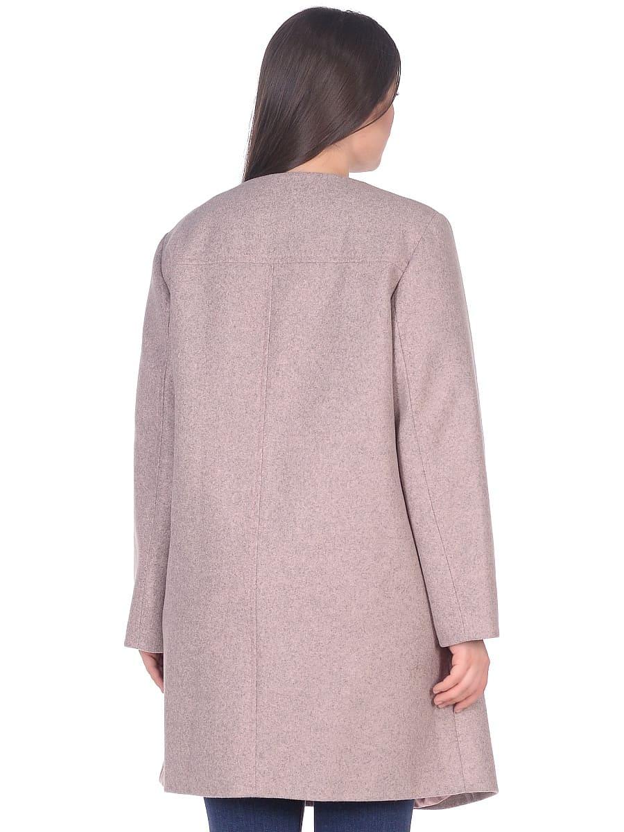 Женское демисезонное пальто hr-025 розовое фото-3