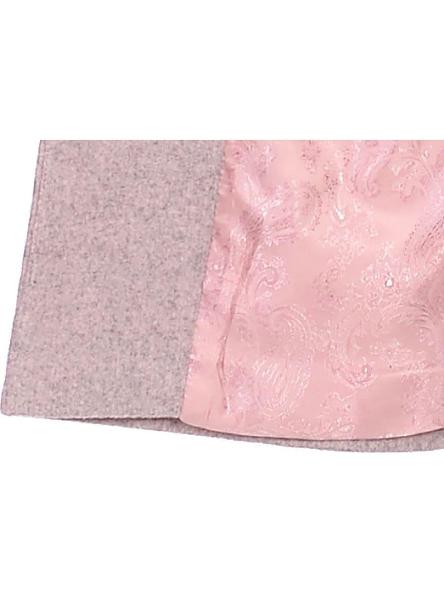 Женское демисезонное пальто hr-025 розовое фото-4