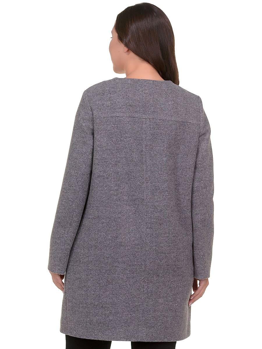 Женское демисезонное пальто hr-025 серое фото-3