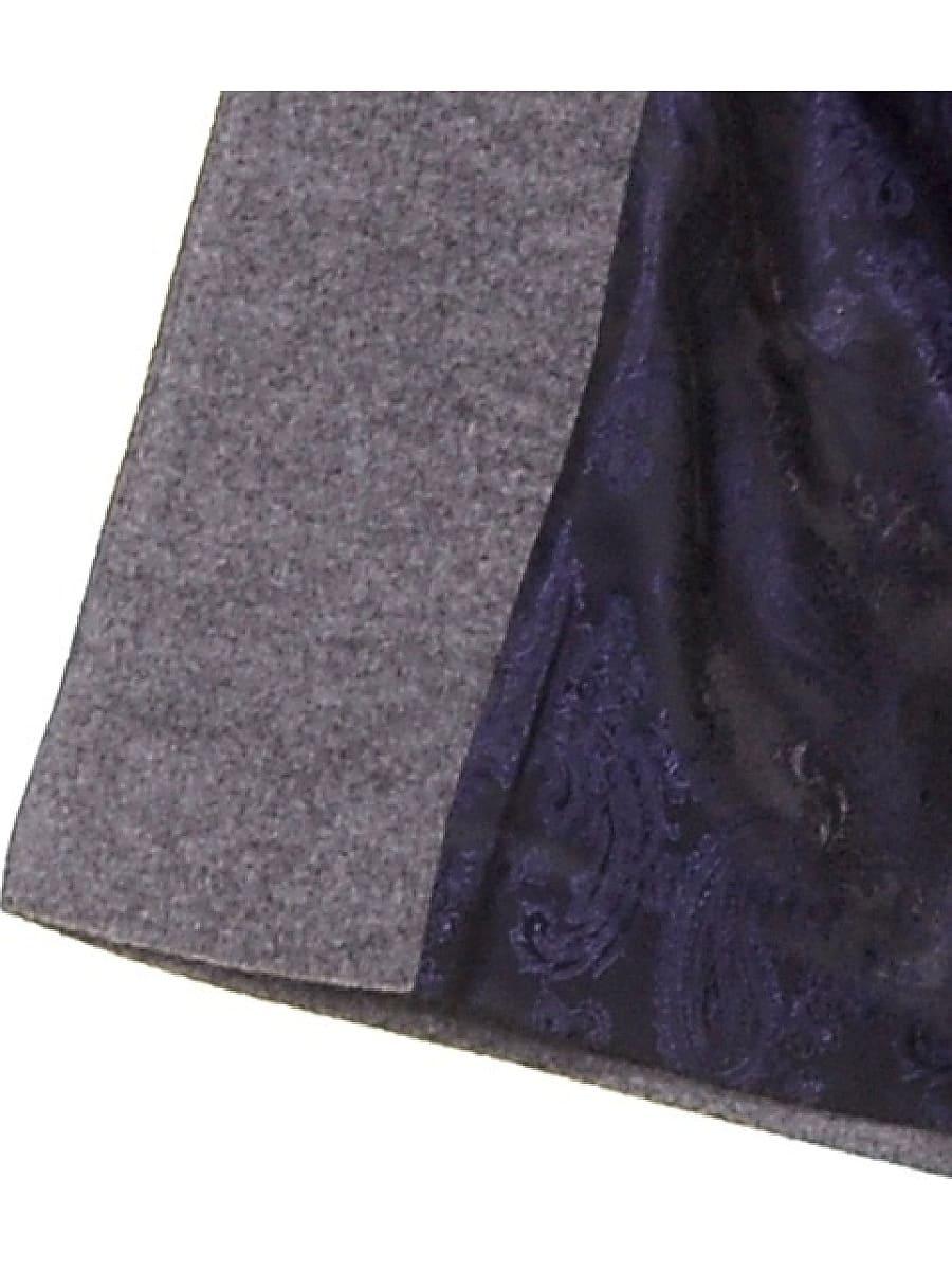 Женское демисезонное пальто hr-025 серое фото-4
