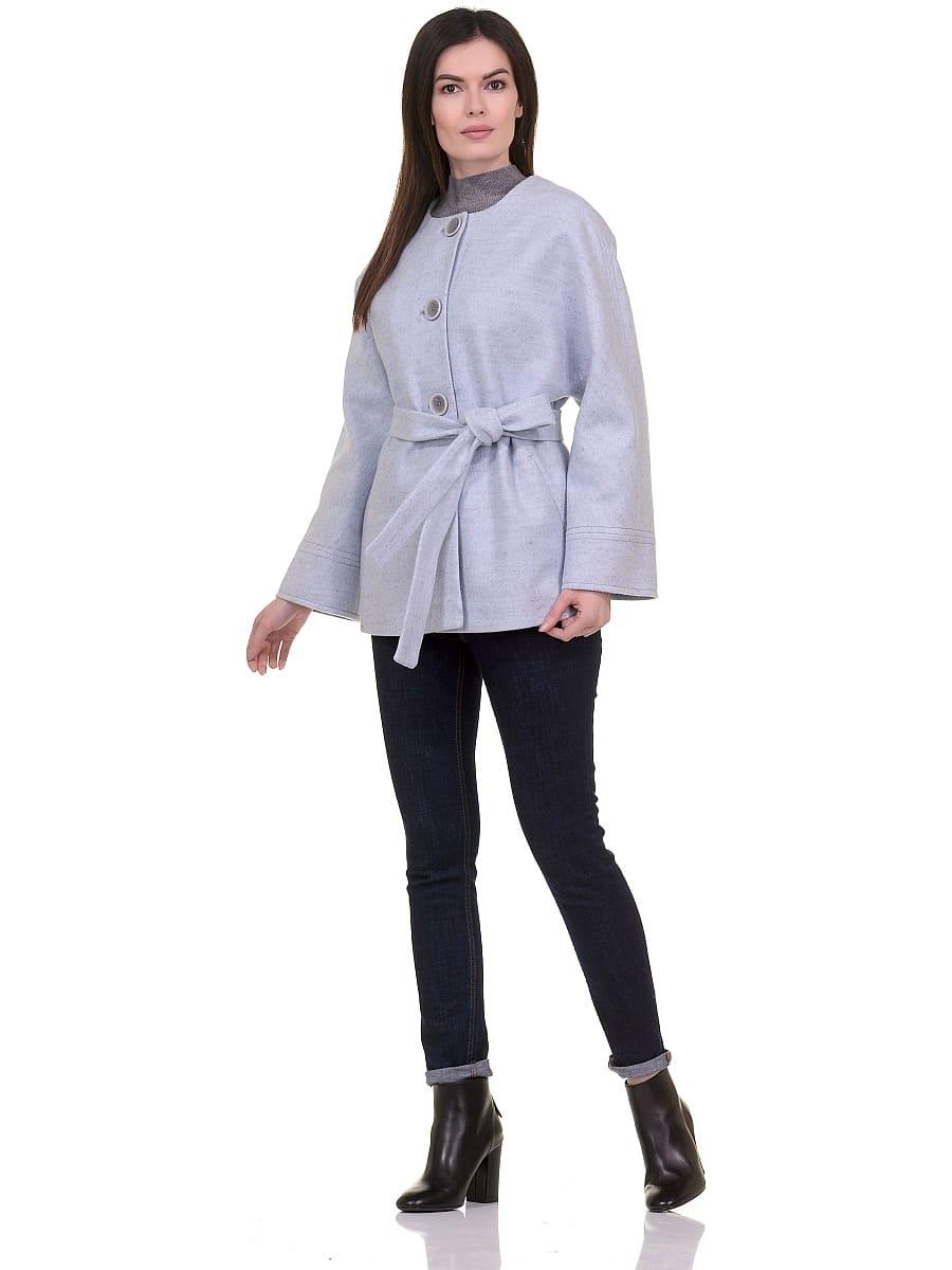 Женское демисезонное пальто hr-028 голубое фото-1