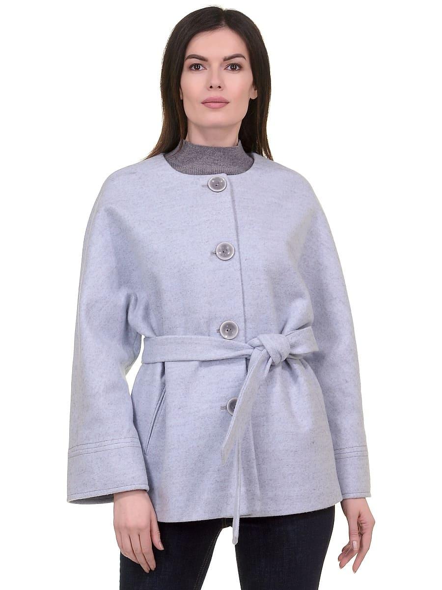 Женское демисезонное пальто hr-028 голубое фото-2
