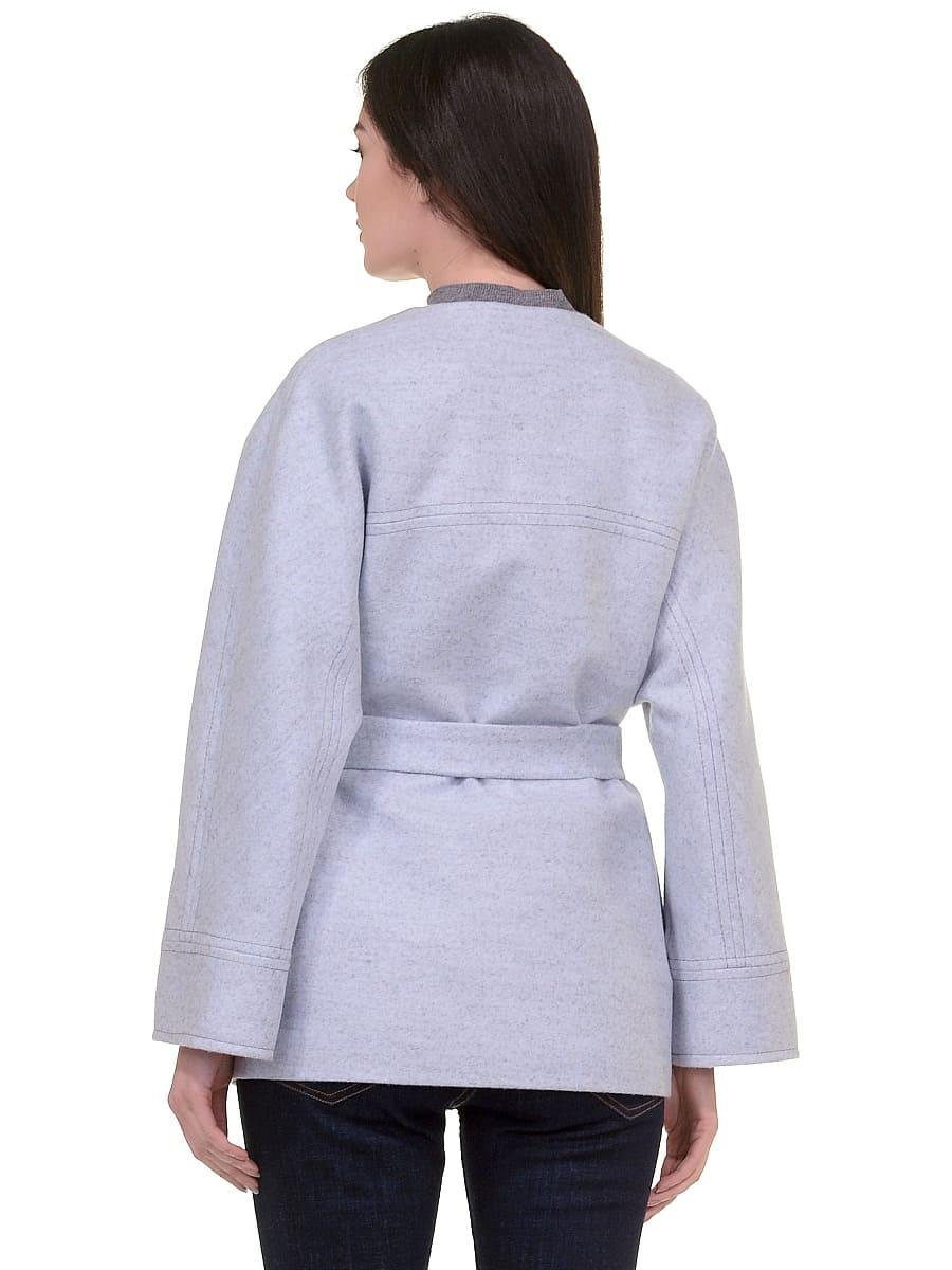 Женское демисезонное пальто hr-028 голубое фото-3
