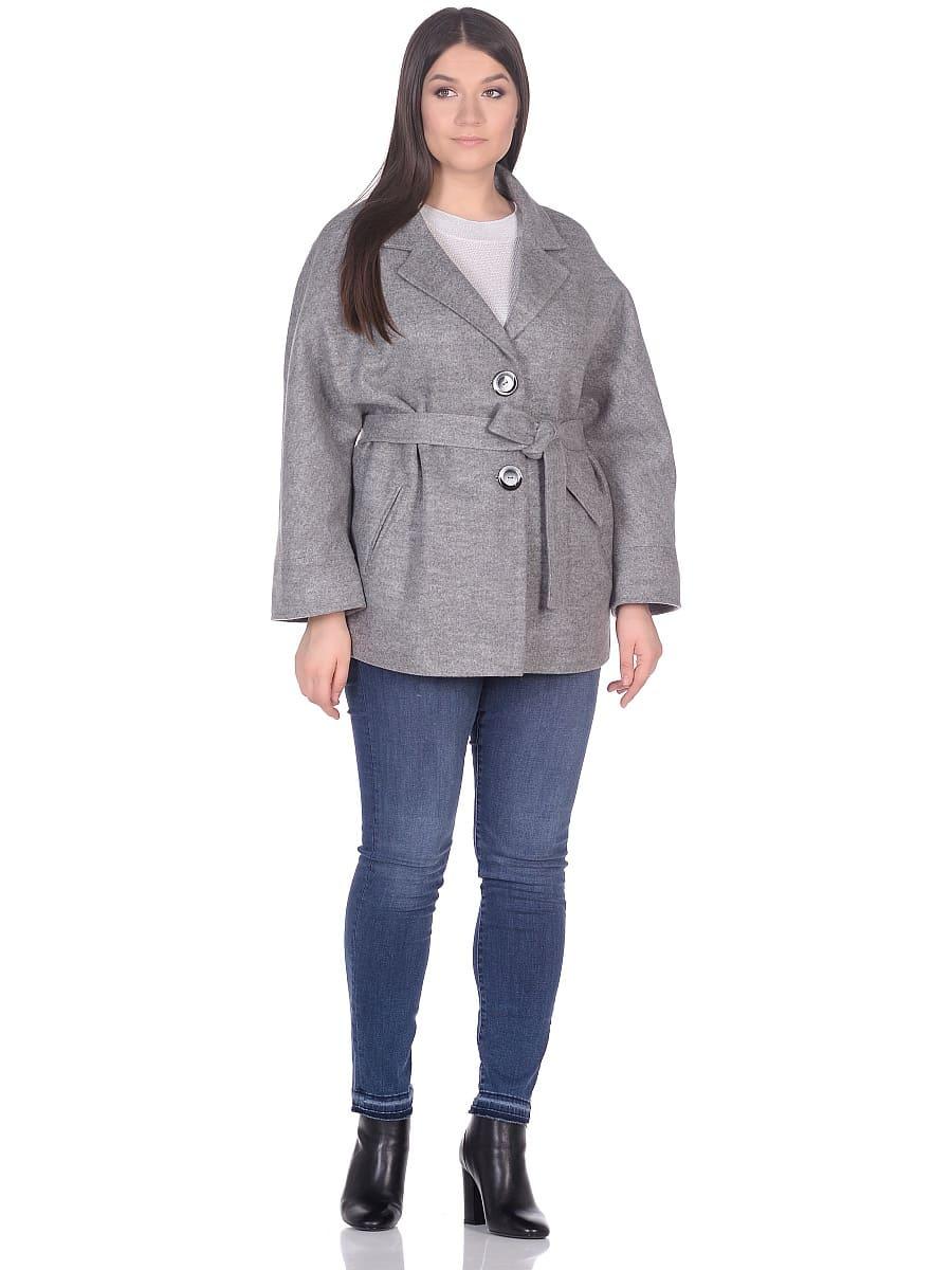 Женское демисезонное пальто hr-029 серое фото-1