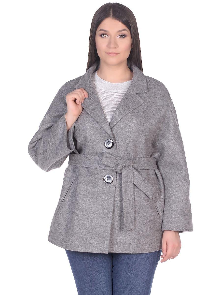 Женское демисезонное пальто hr-029 серое фото-2