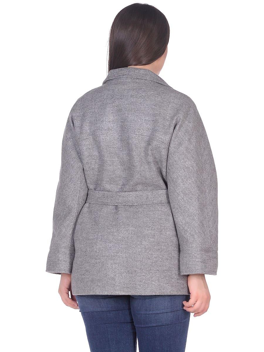 Женское демисезонное пальто hr-029 серое фото-3