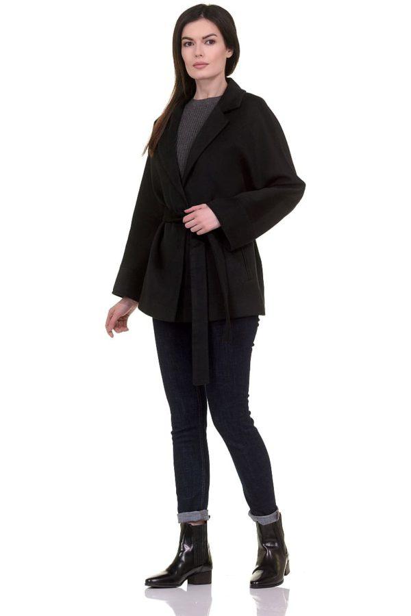 Женское демисезонное пальто hr-029a черное фото-1