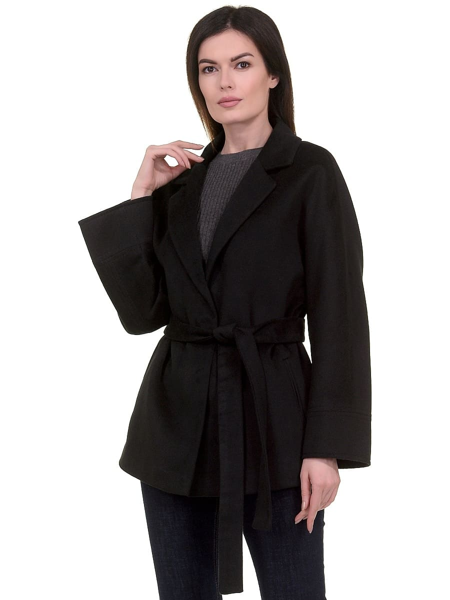 Женское демисезонное пальто hr-029a черное фото-2