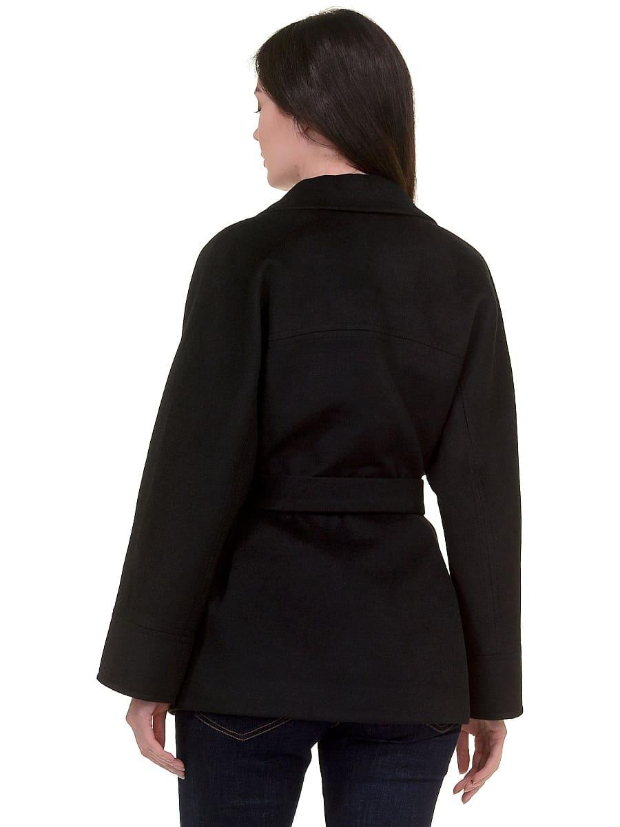 Женское демисезонное пальто hr-029a черное фото-3