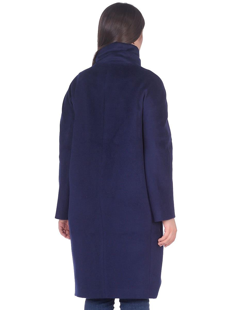 Женское демисезонное пальто hr-031 синее фото-3