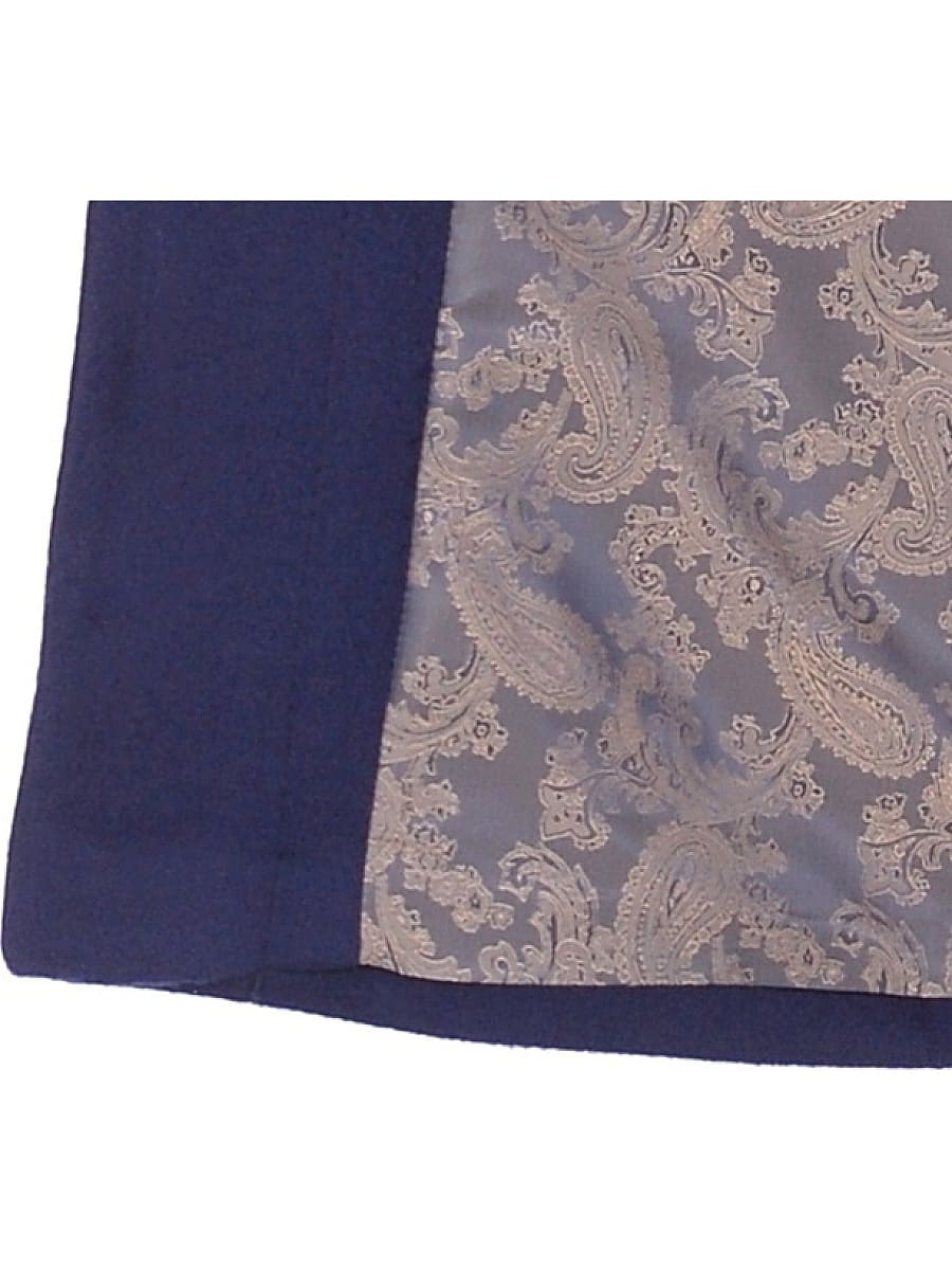 Женское демисезонное пальто hr-031 синее фото-4