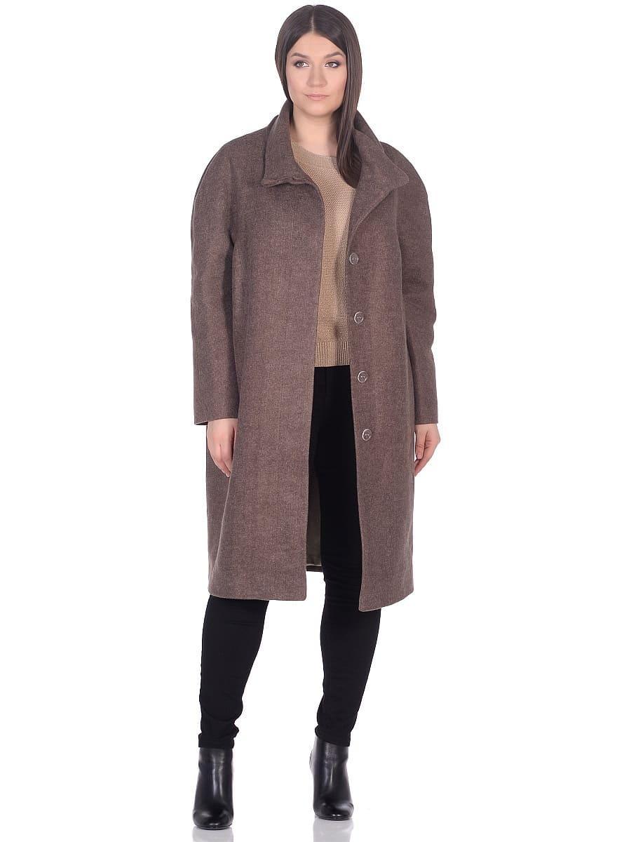 Женское демисезонное пальто hr-031a коричневое фото-1