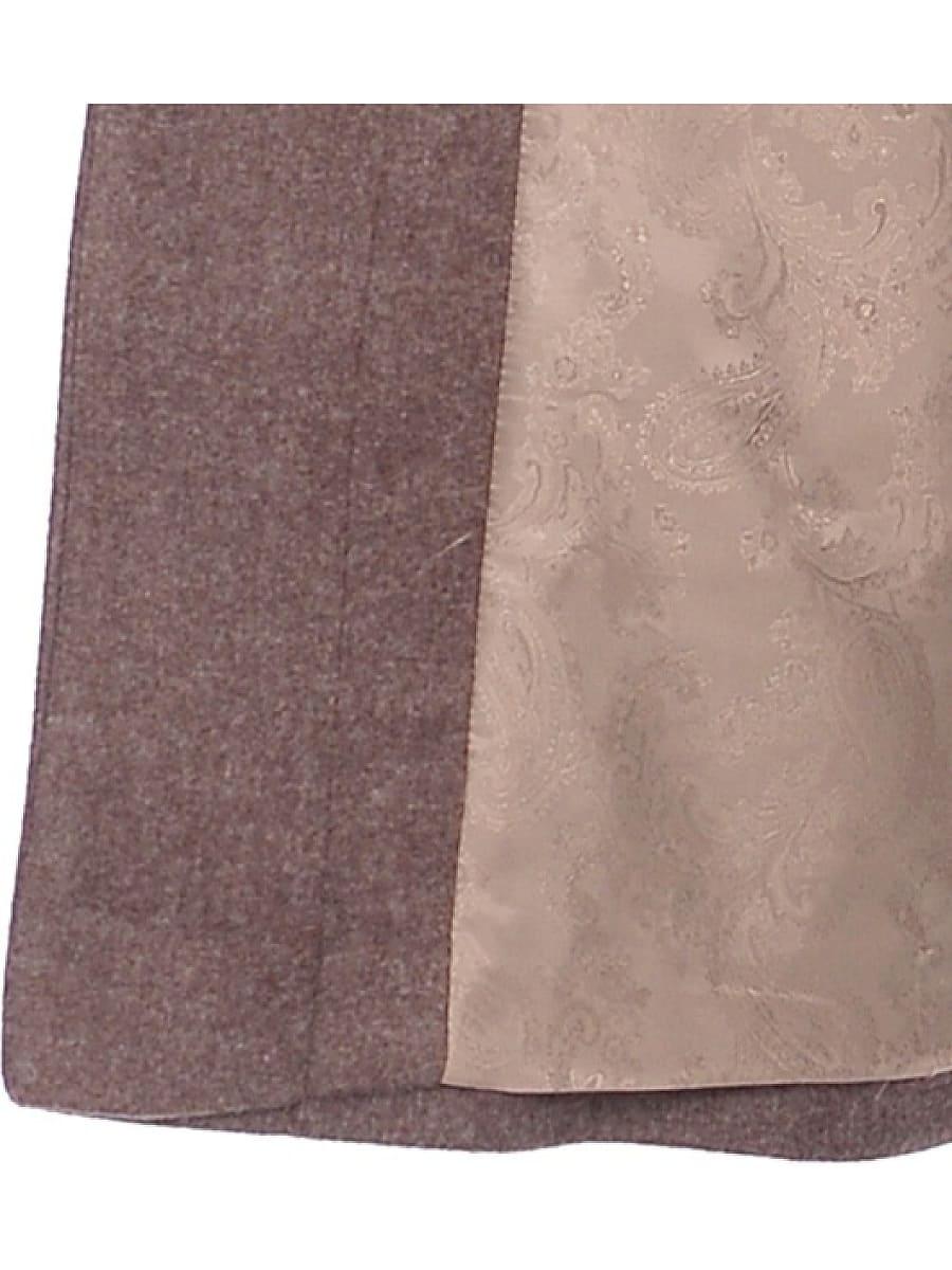 Женское демисезонное пальто hr-031a коричневое фото-4
