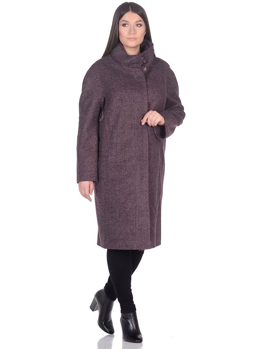 Женское демисезонное пальто hr-031a сливовое фото-1