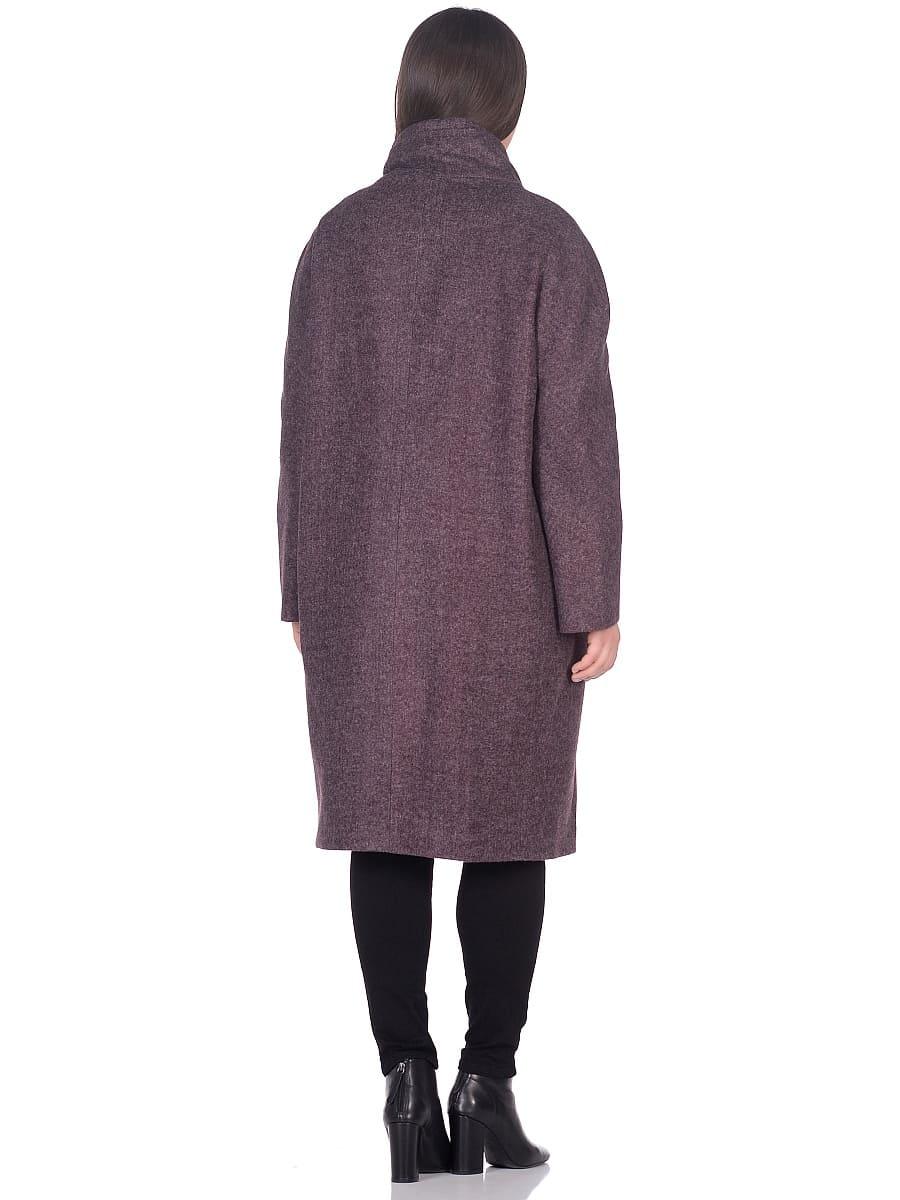 Женское демисезонное пальто hr-031a сливовое фото-3