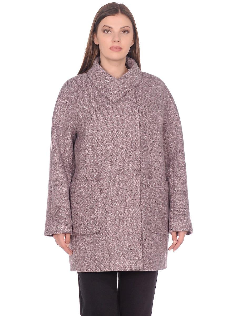 Женское демисезонное пальто hr-023a розовое фото-2