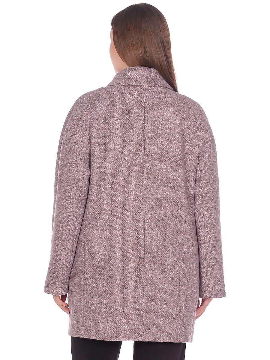 Женское демисезонное пальто hr-023a розовое фото-3