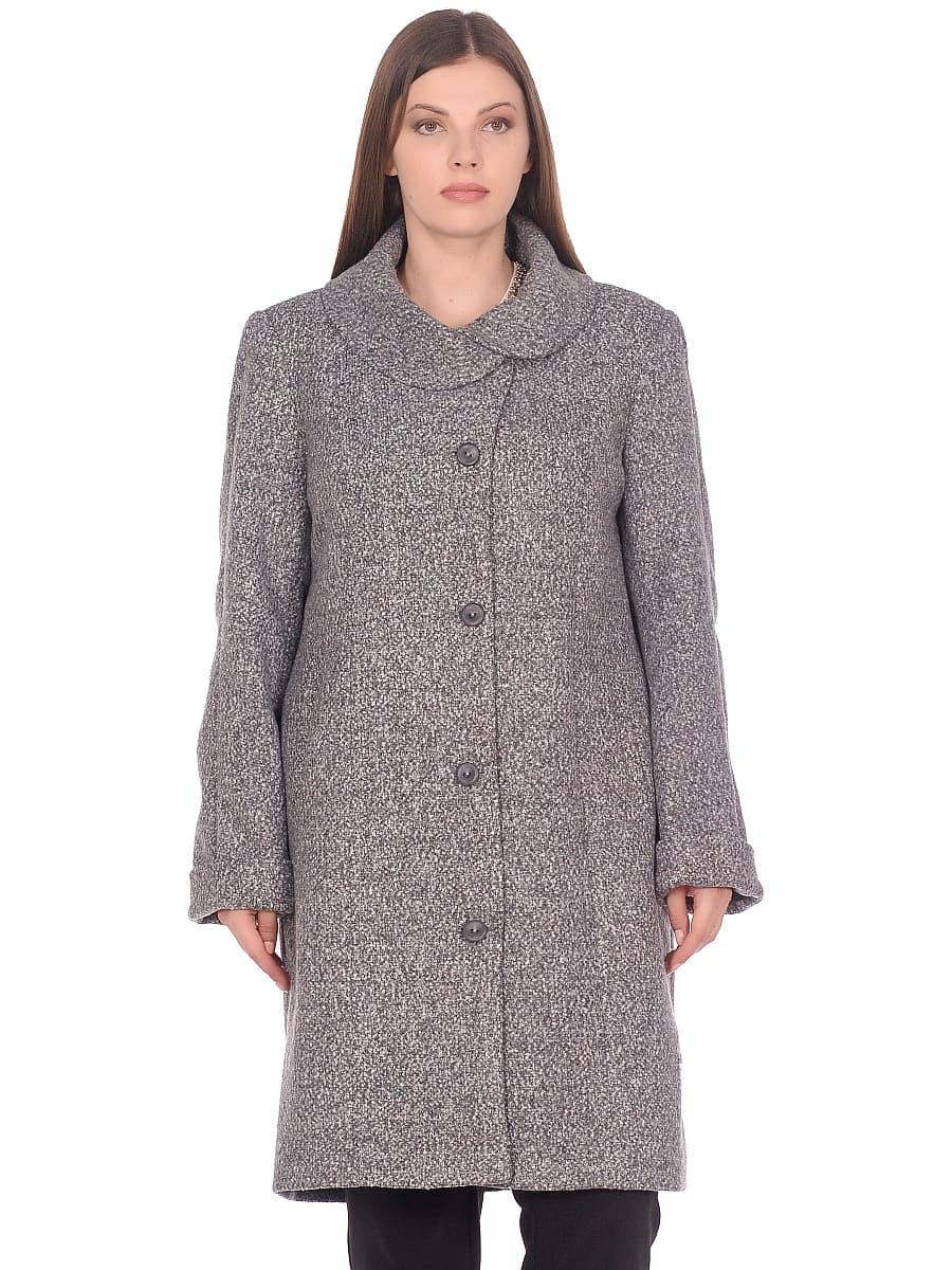 Женское демисезонное пальто hr-024 серое фото-2
