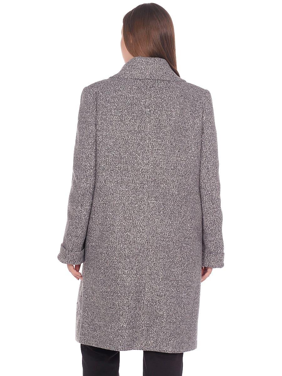 Женское демисезонное пальто hr-024 серое фото-3