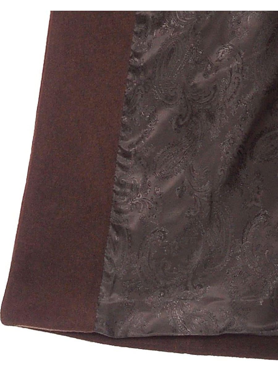 Женское демисезонное пальто hr-024a коричневое фото-4