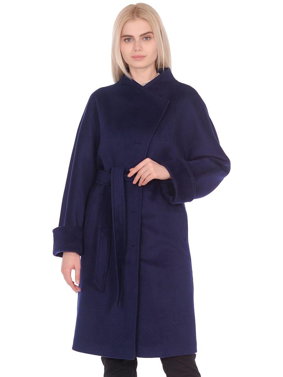 Женское демисезонное пальто hr-026 синее фото-2