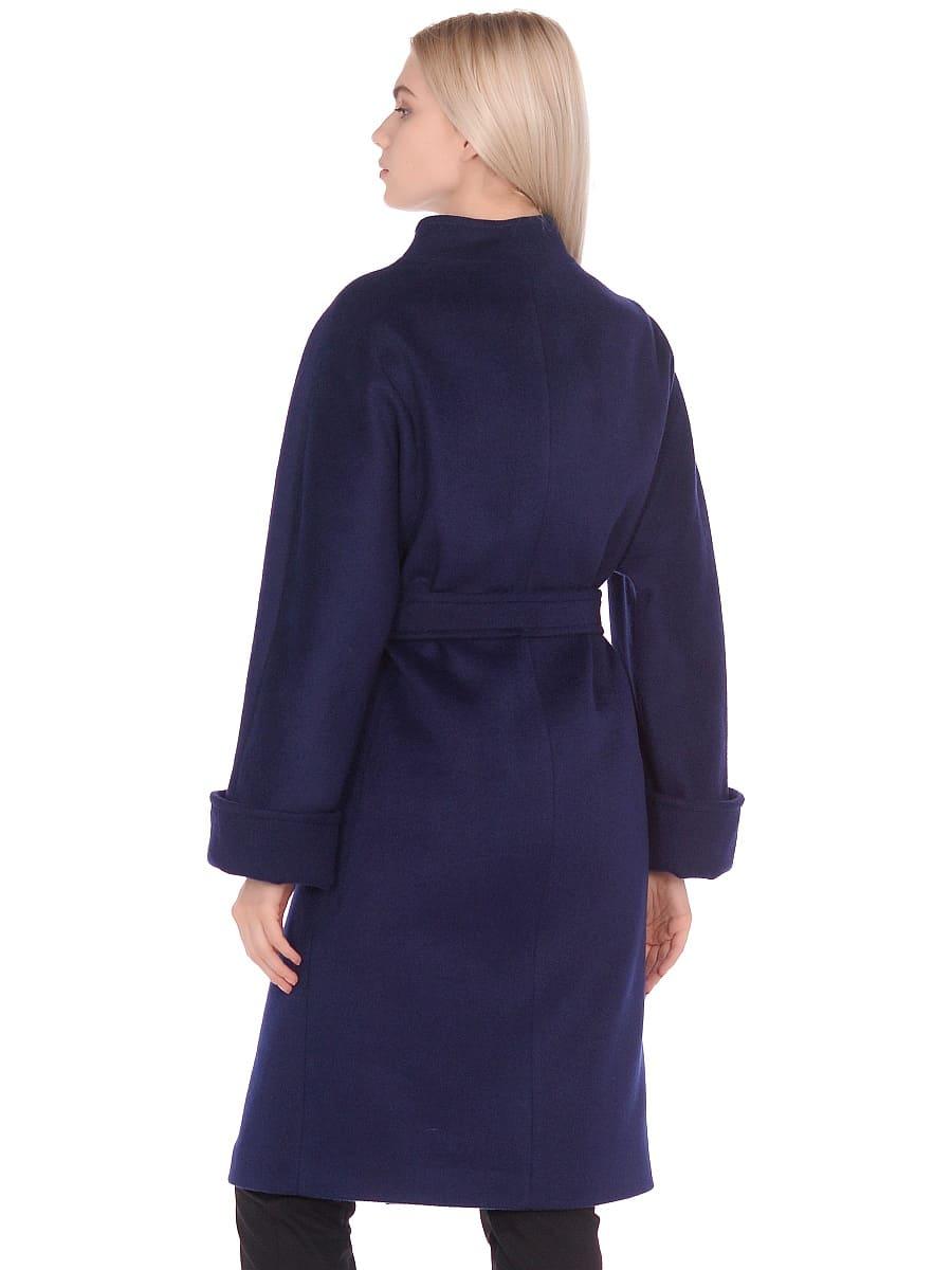 Женское демисезонное пальто hr-026 синее фото-3