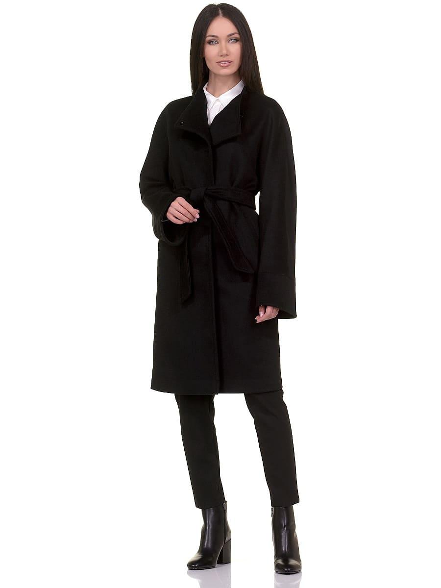 Женское демисезонное пальто hr-026 черное фото-1