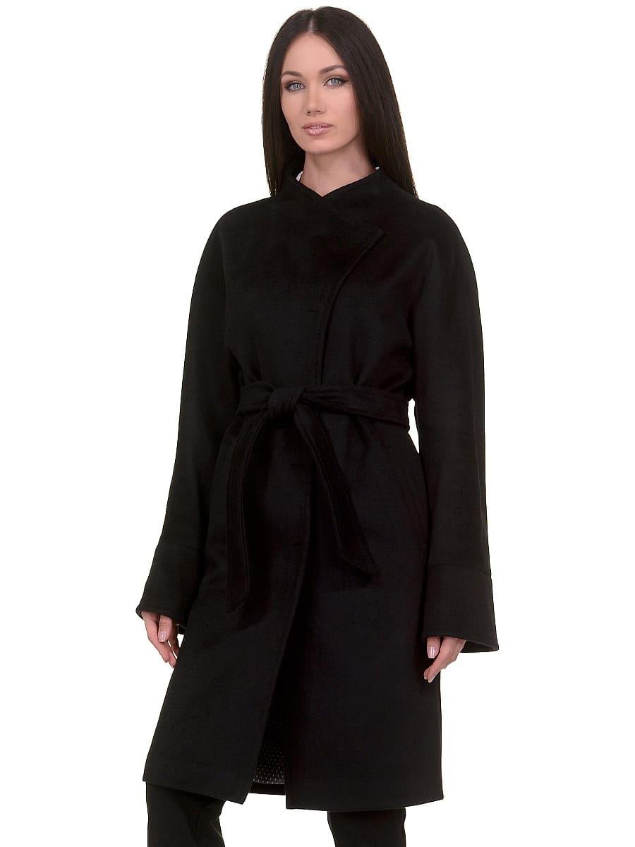 Женское демисезонное пальто hr-026 черное фото-2
