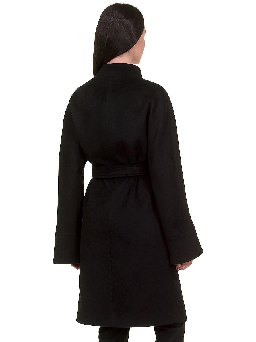 Женское демисезонное пальто hr-026 черное фото-3