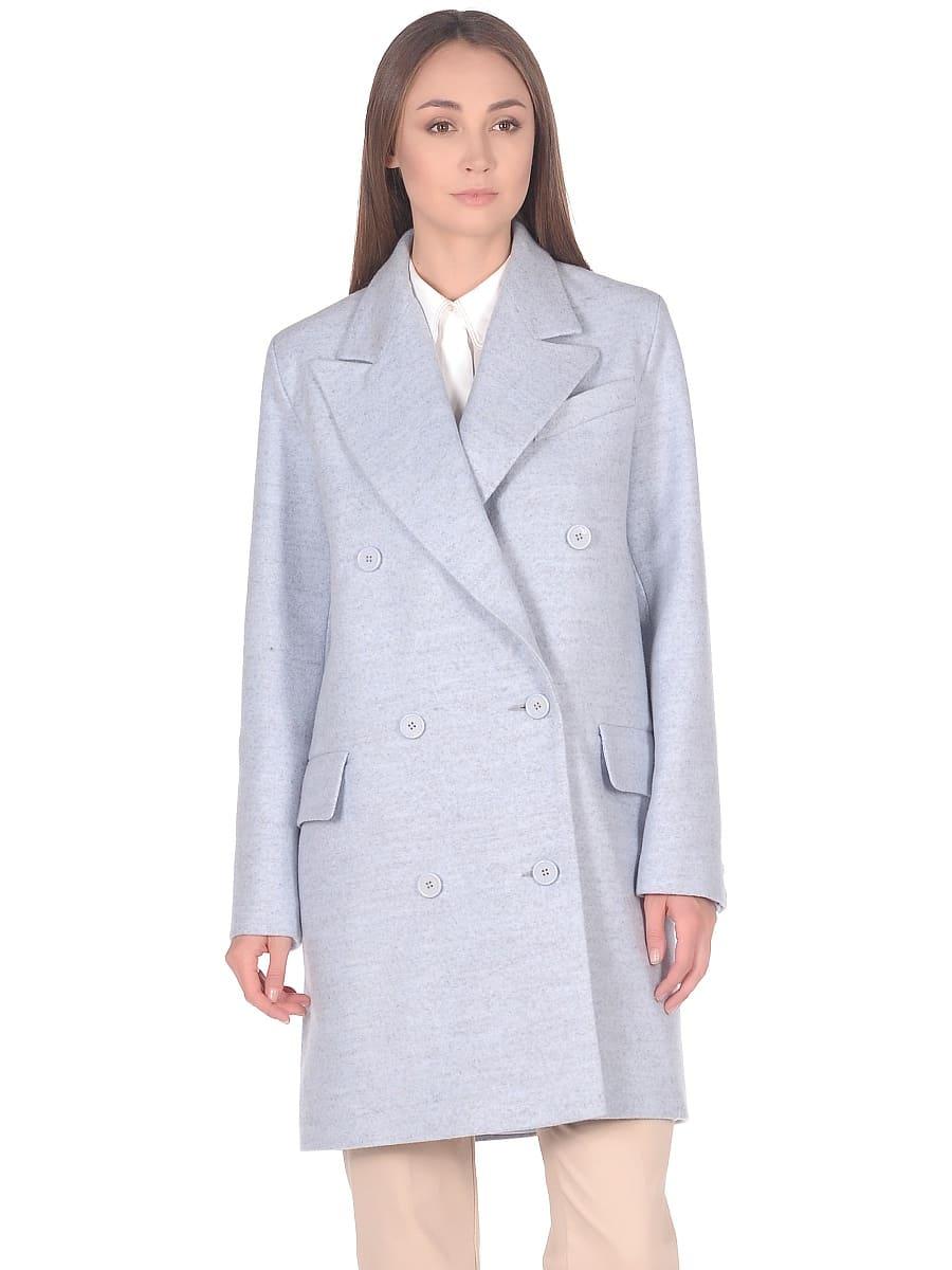 Женское демисезонное пальто hr-027 голубое фото-2