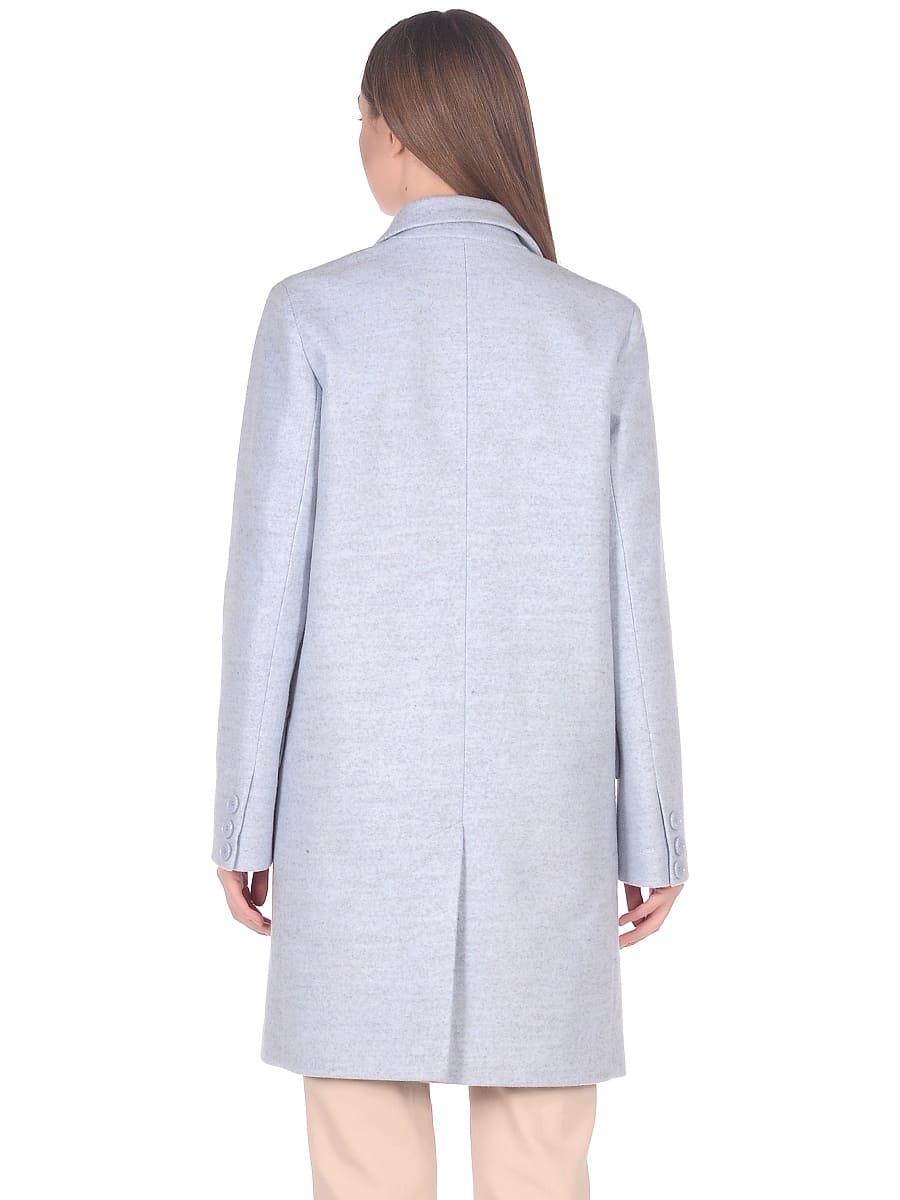 Женское демисезонное пальто hr-027 голубое фото-3